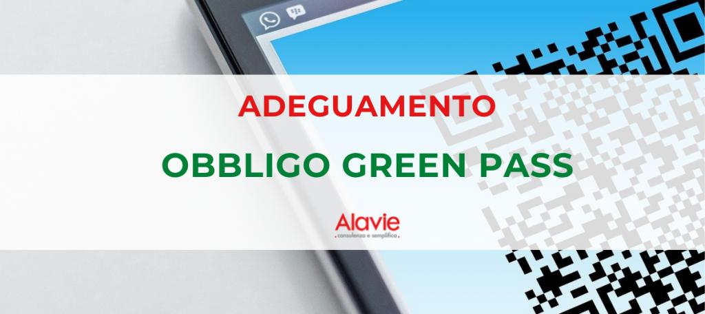 Adeguamento Obbligo Green Pass